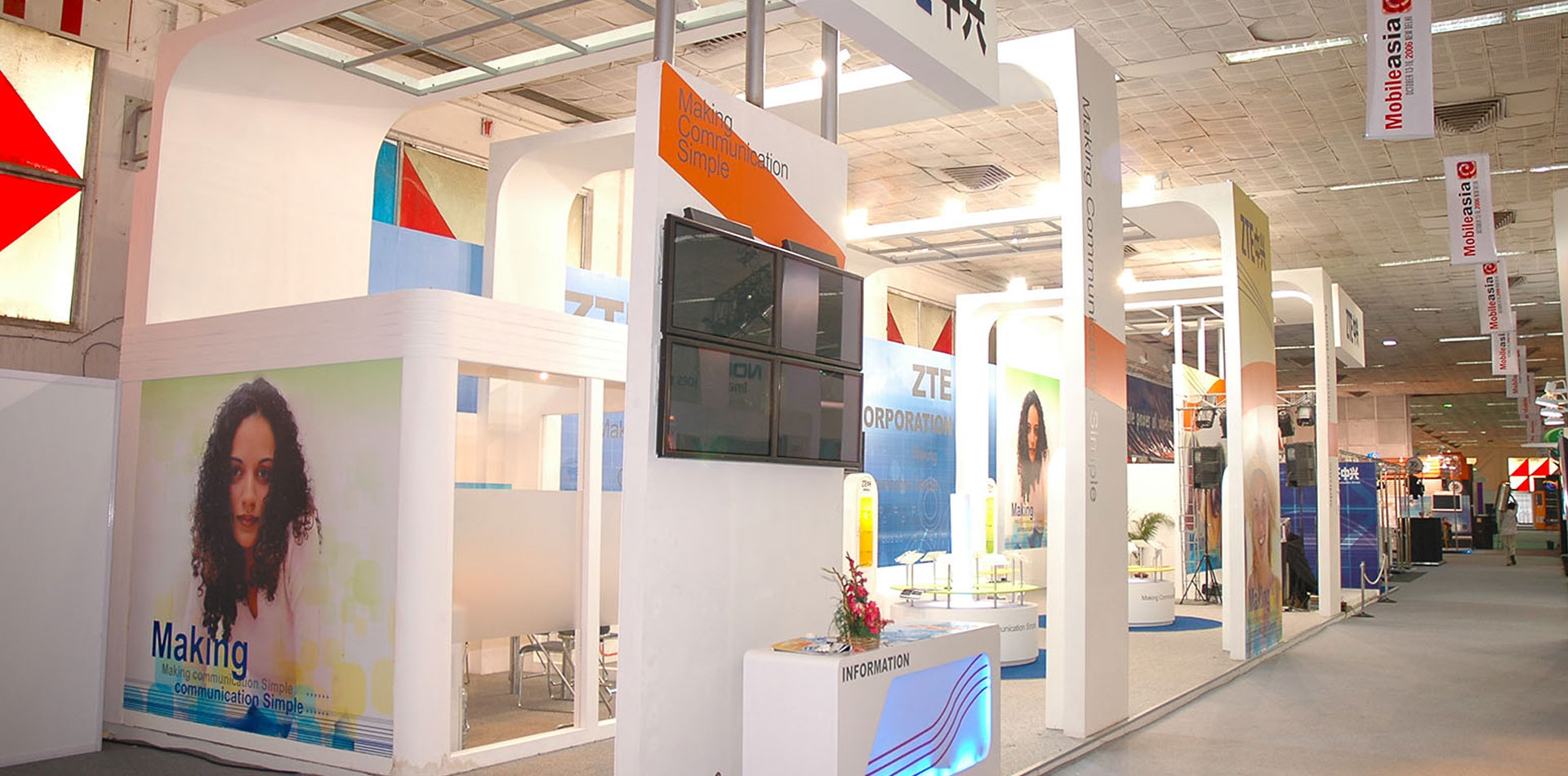 Simple Exhibition Stall : Exhibition stall designing fabrication dismantling company